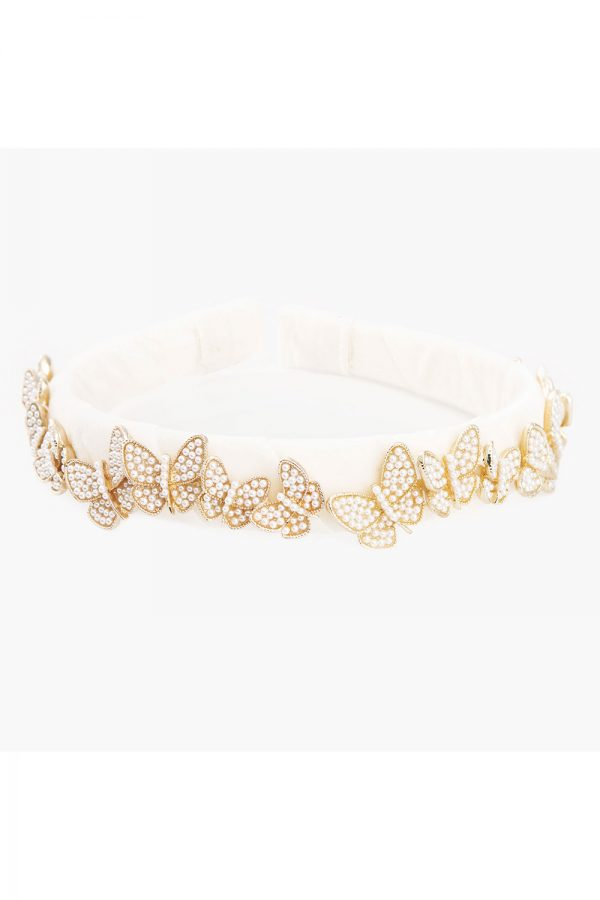 ivory butterfly Alice band