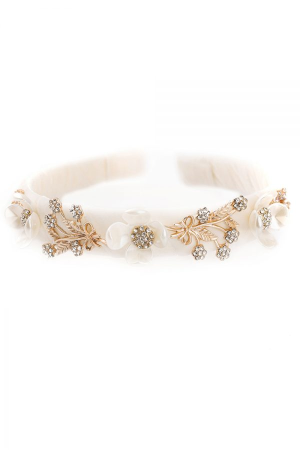 ivory floral party hair band