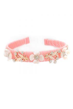 blush pink floral hair band
