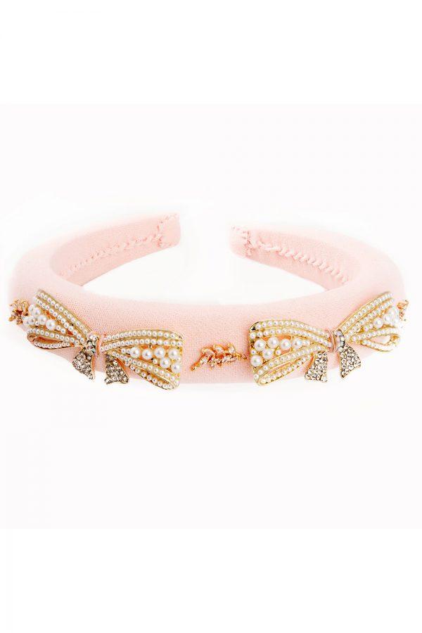 pastel pink pearl hair band