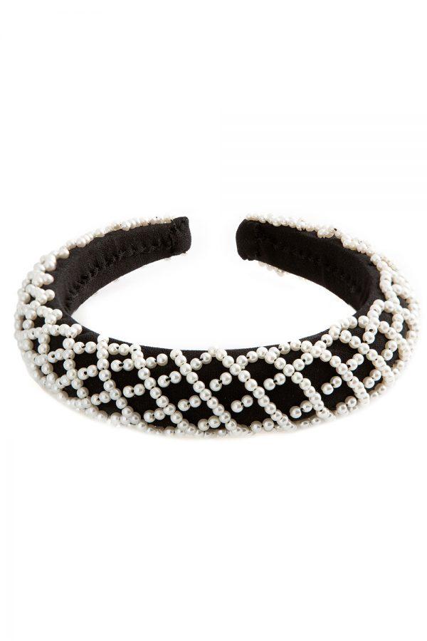Black Ivory Pearl Hair Band