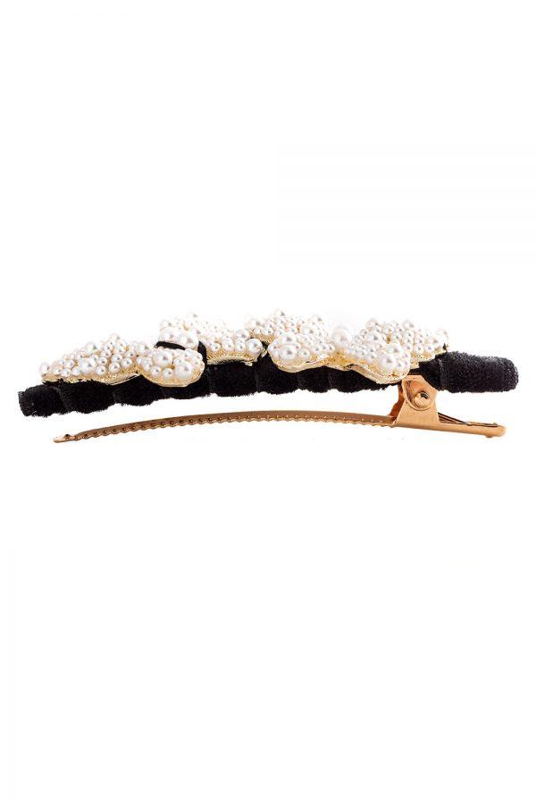 black pearl butterfly hair clip