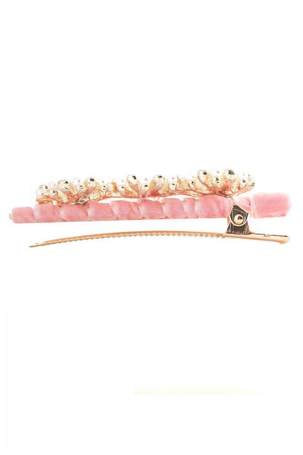 ballet pink flower hair clip