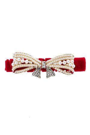 jazz red embellished hair clip