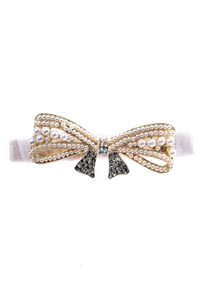 ivory embellished hair clip