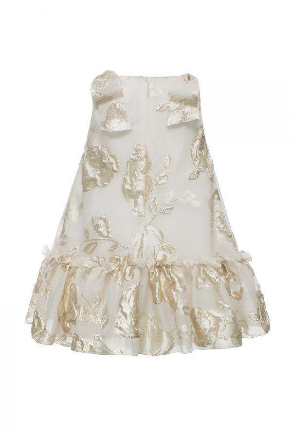 white gold rose tea dress
