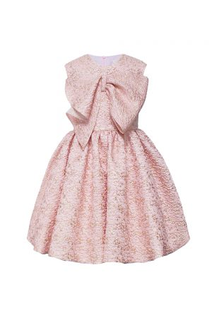 pink oversized bow gown