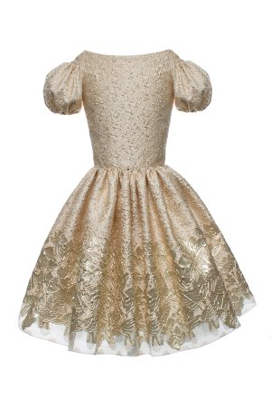 gold movie star ball gown