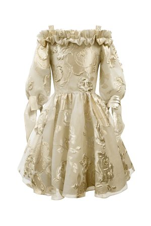 gold rose party gown